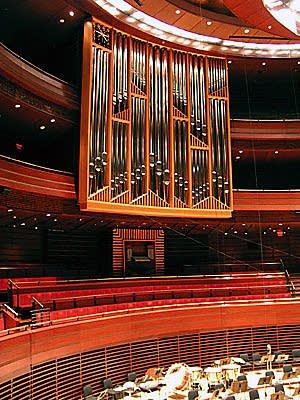 The Fred J. Cooper Memorial Organ > [2006 Dobson] in Verizon Hall at the Kimmel Center for the Performing Arts, Philadelphia, Pennsylvania. Built by the Dobson Organ Company