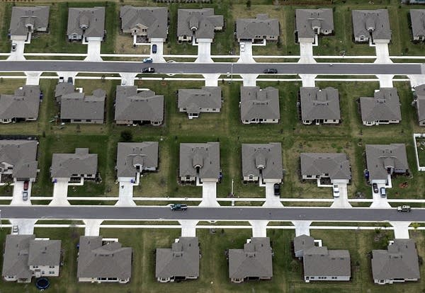 A new housing subdivision