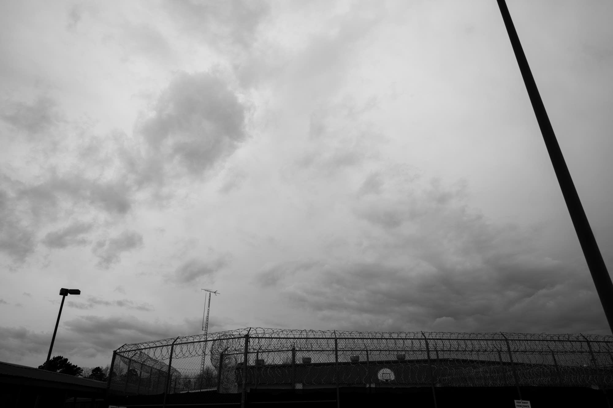 Storm clouds over Winston County jail.