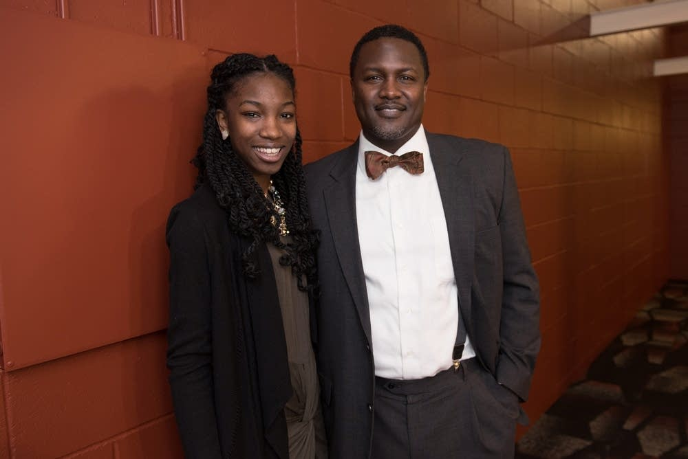 Kierra Murray, 17, left, and her father Kevin