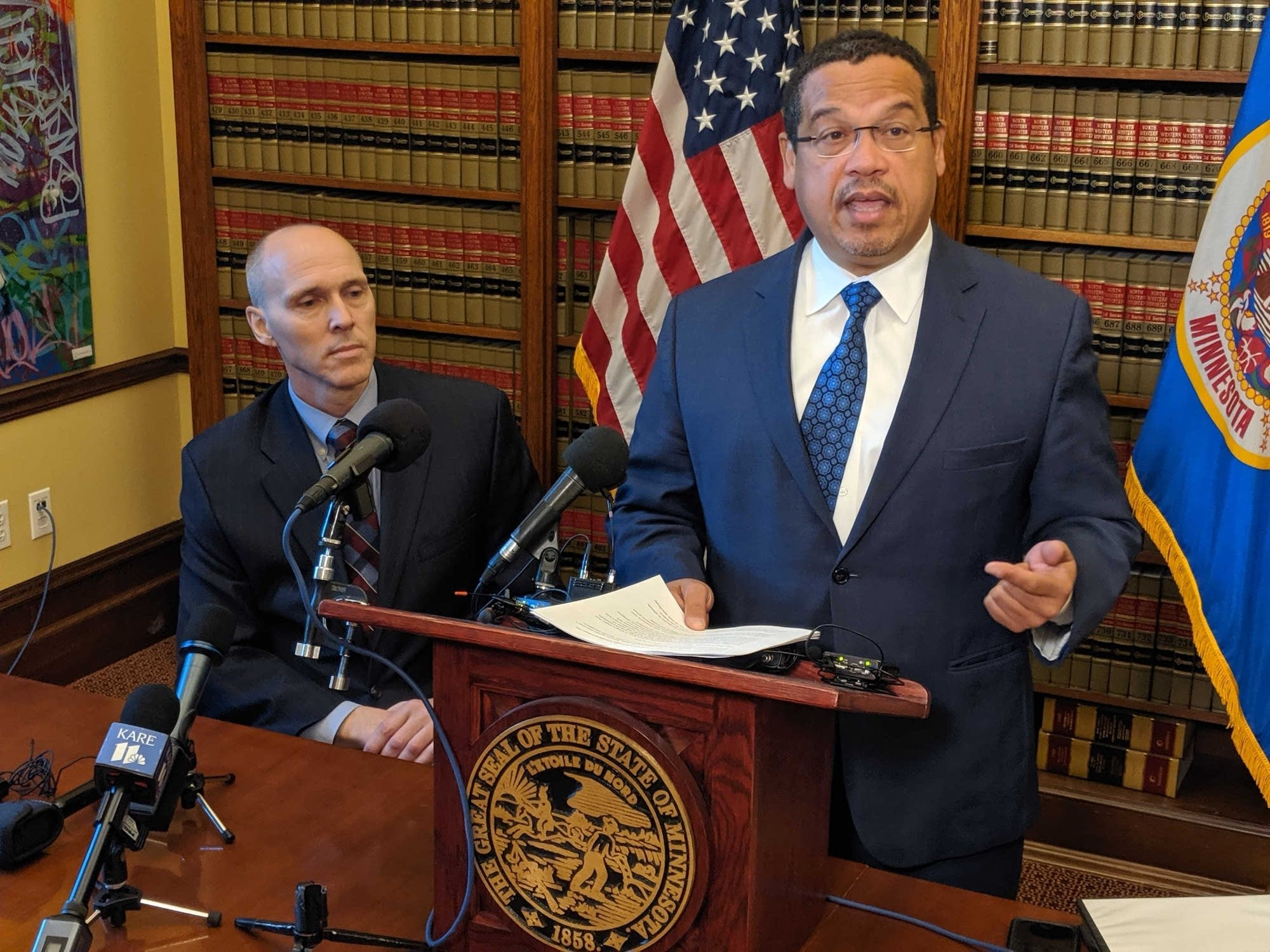 State Rep. Rod Hamilton and Attorney General Keith Ellison.