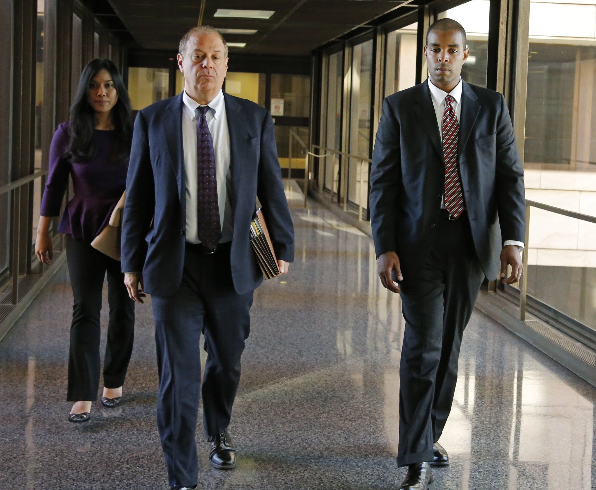 Former Minneapolis FBI agent Terry Albury and his attorney, Joshua Dratel.