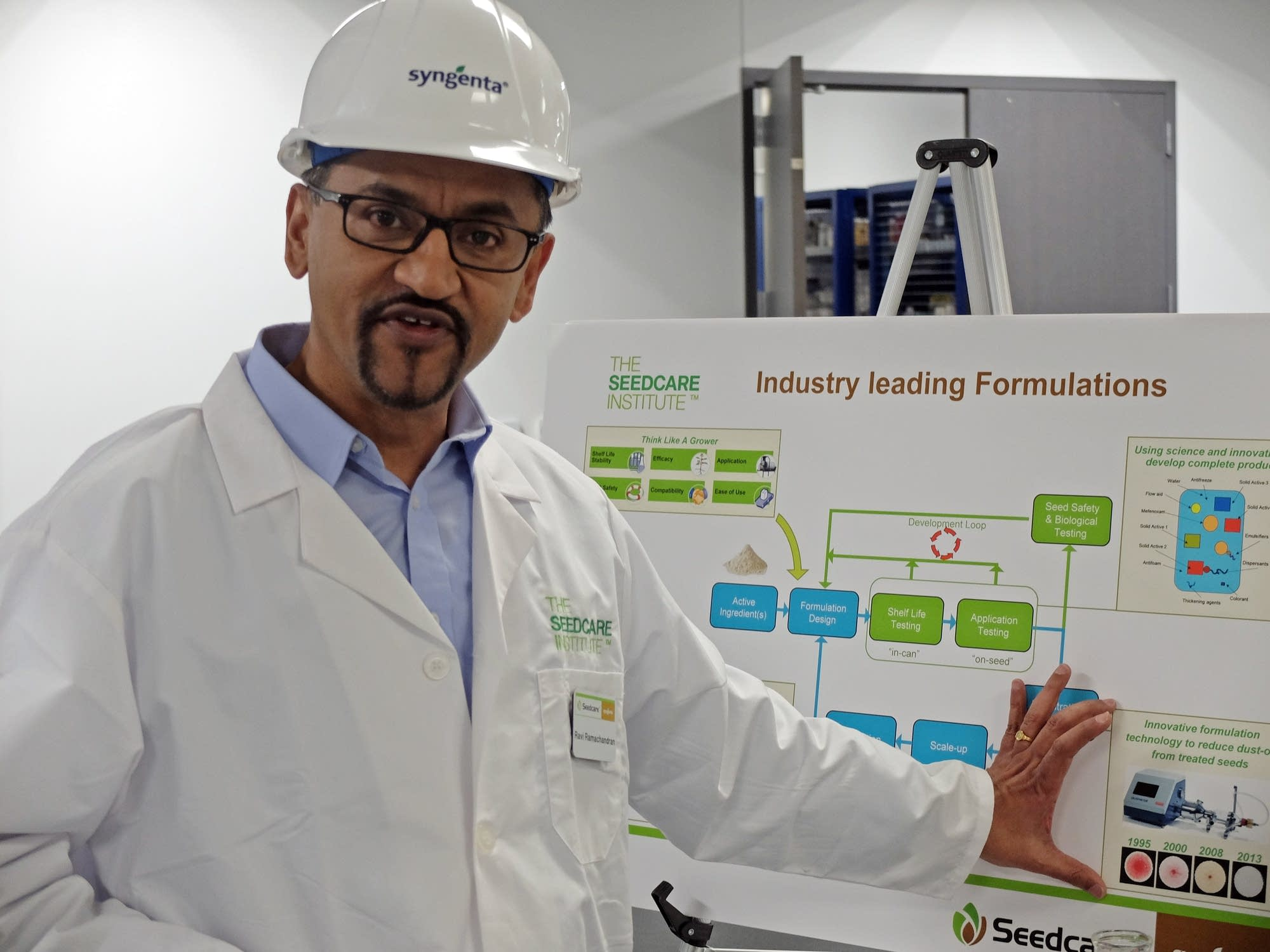 The head of the Syngenta Seedcare Institute, Ravi Ramachandran