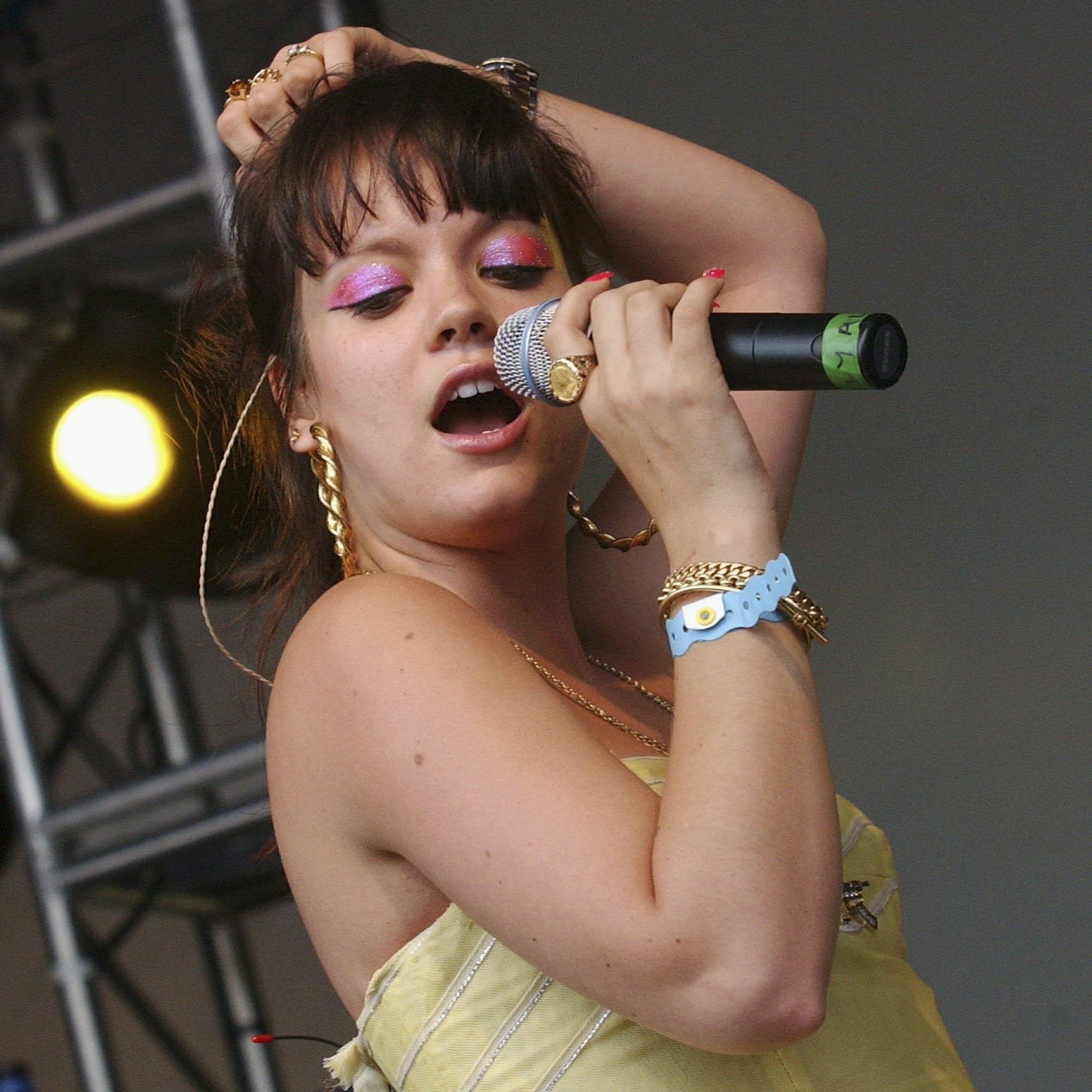 Lily Allen performs in England in 2006.
