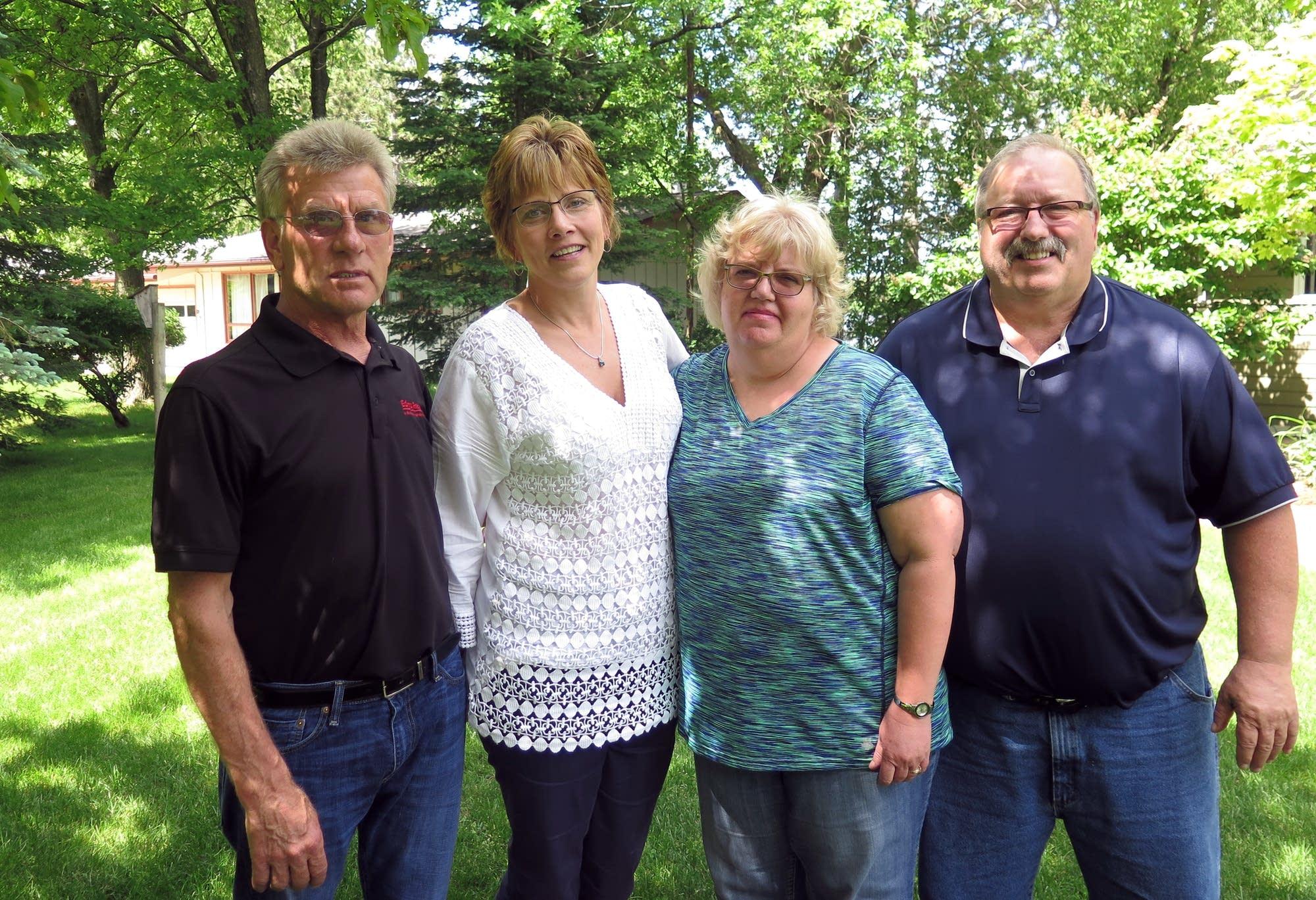 Gary Scheeler, Julie Kletscher, Bonnie Gillespie, and Bob Gillespie