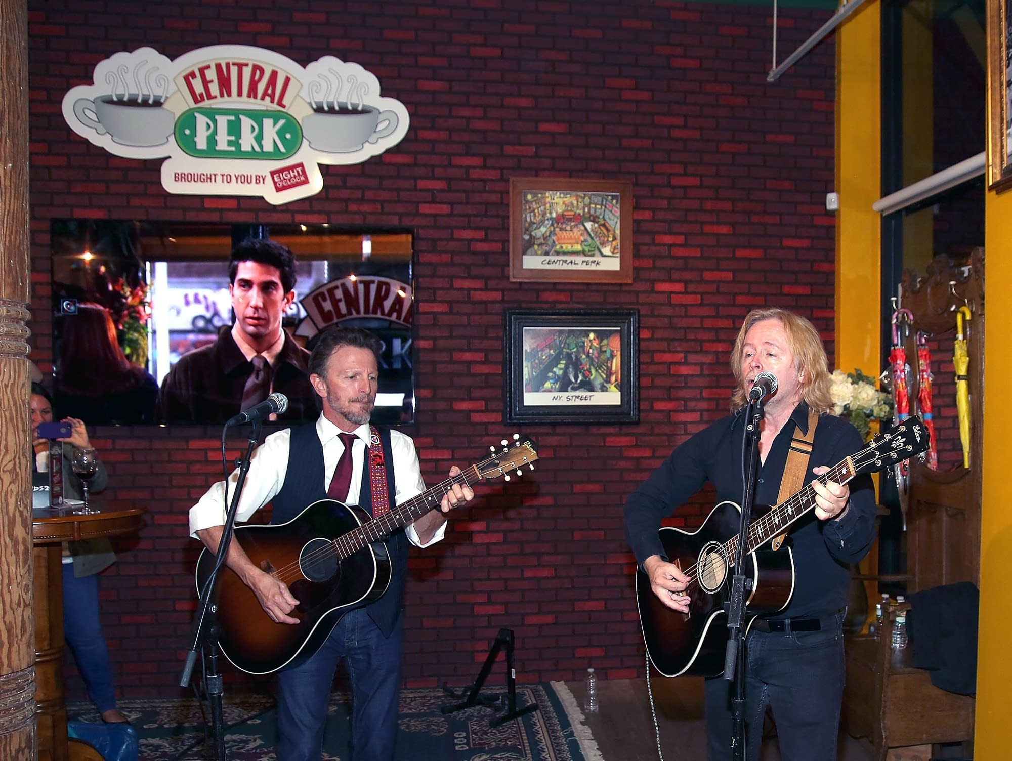 The Rembrandts perform at Central Perk for 20th Anniversary of