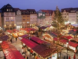 Traditional Christmas market in Jena, Germany.