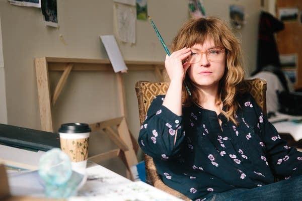 Painter Melissa Loop sits for a portrait.