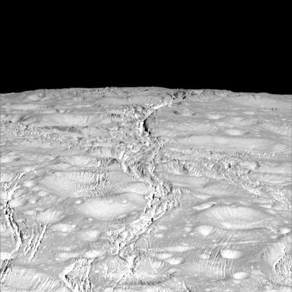 North pole of Enceladus