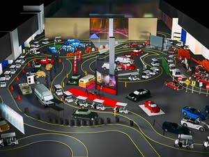 """The layout for the """"Autonomy"""" performance space."""