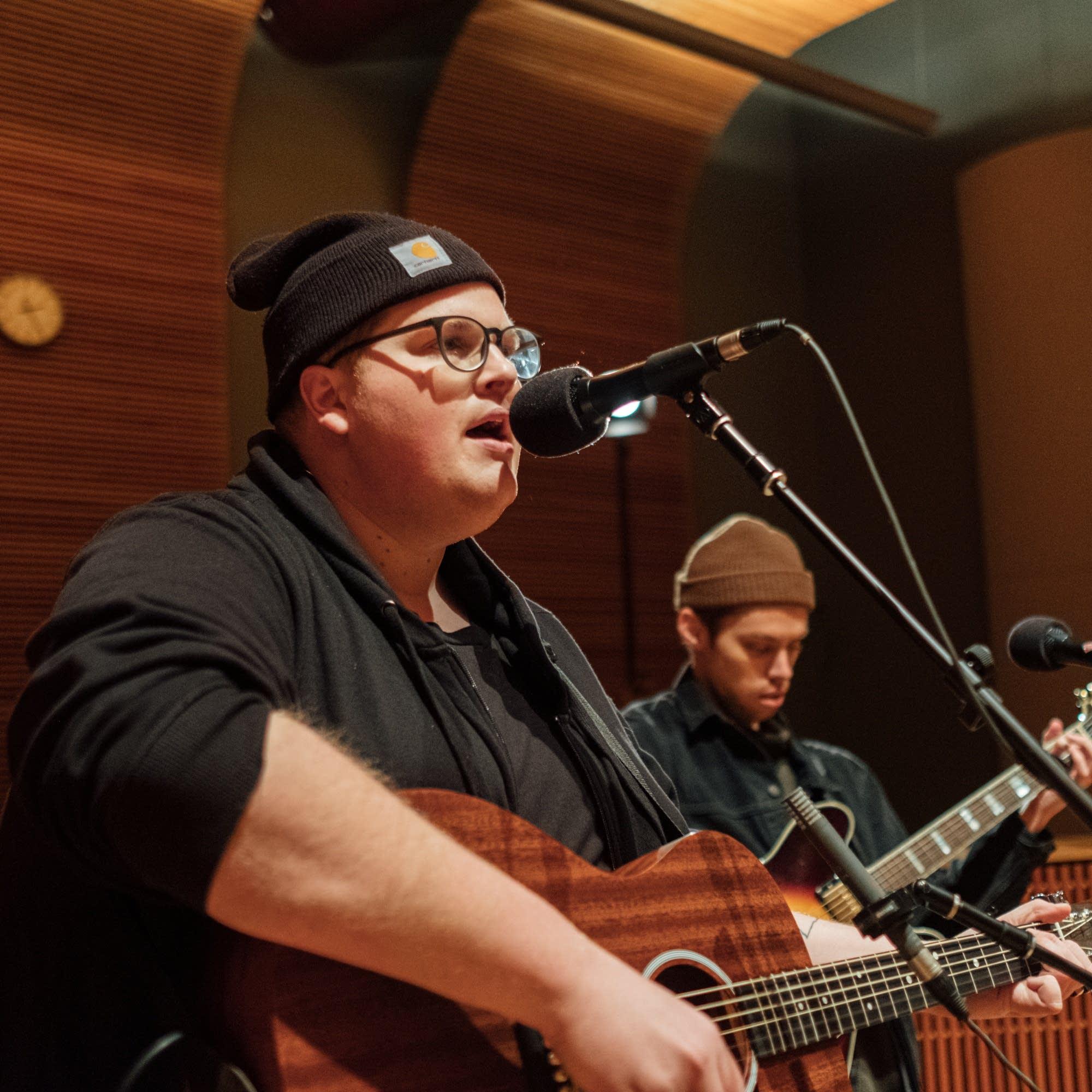 Michigander perform in The Current studio
