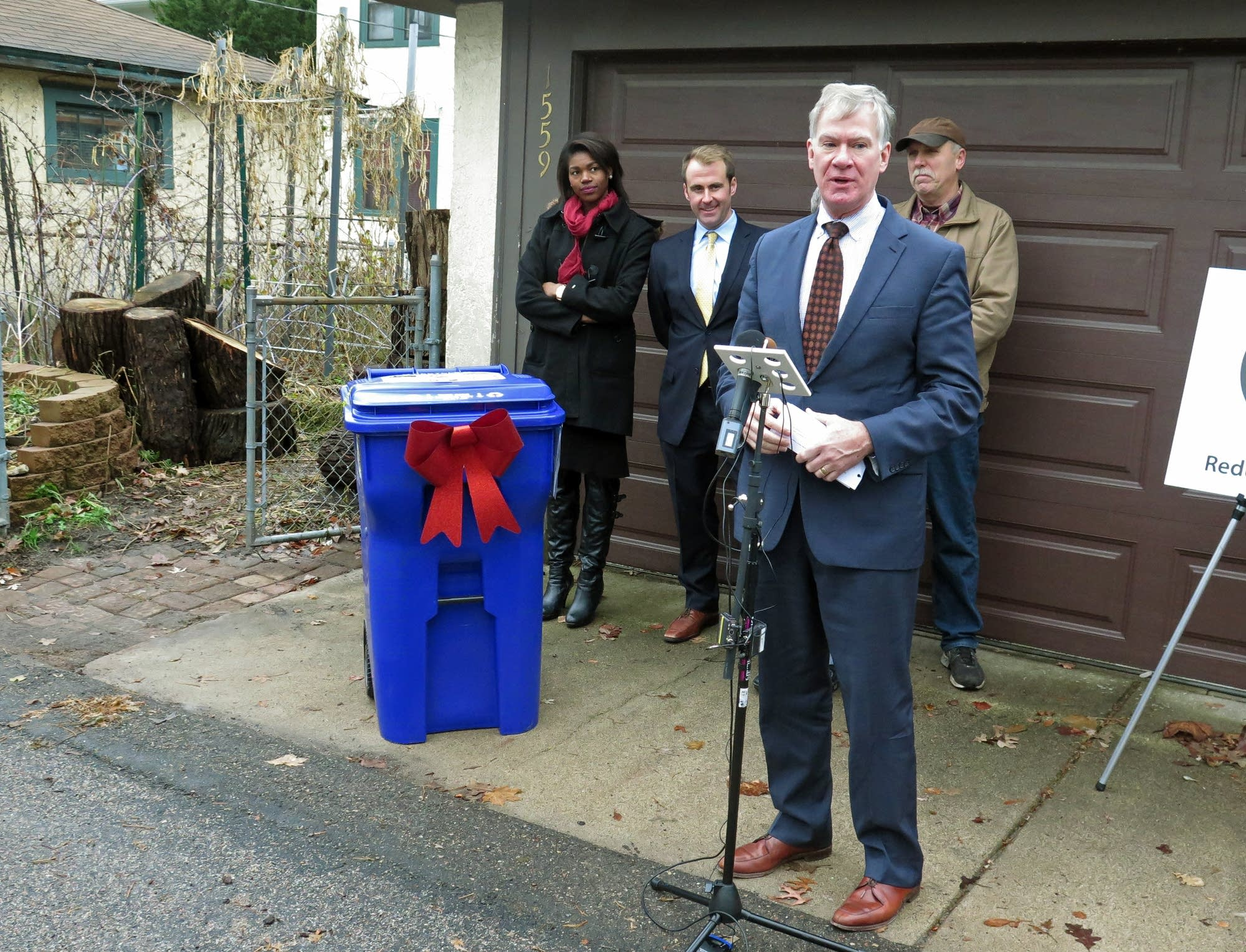 Mayor Chris Coleman delivered the first bins.