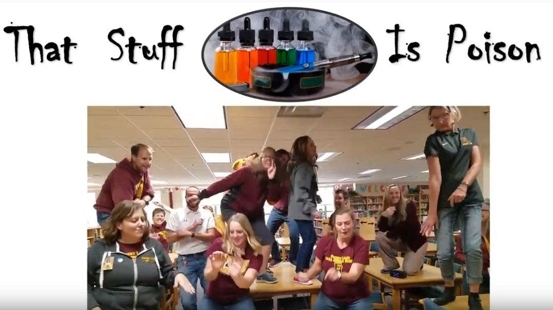 Forest Lake teachers rewrite old song with news words to produce anti-vape video - Minnesota Public Radio News