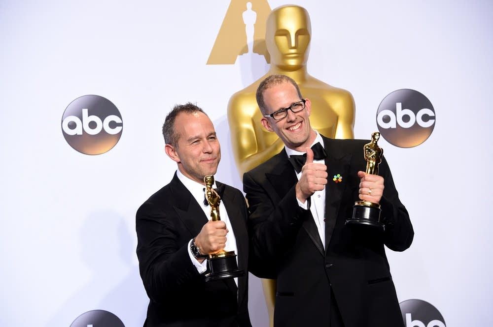 Jonas Rivera and Pete Docter