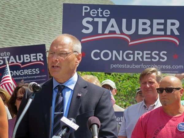 Pete Stauber announced he will seek to represent Minnesota's 8th district.