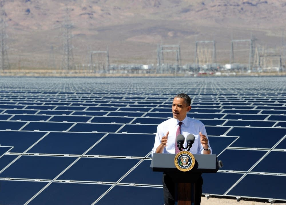 Solar power station in Nevada