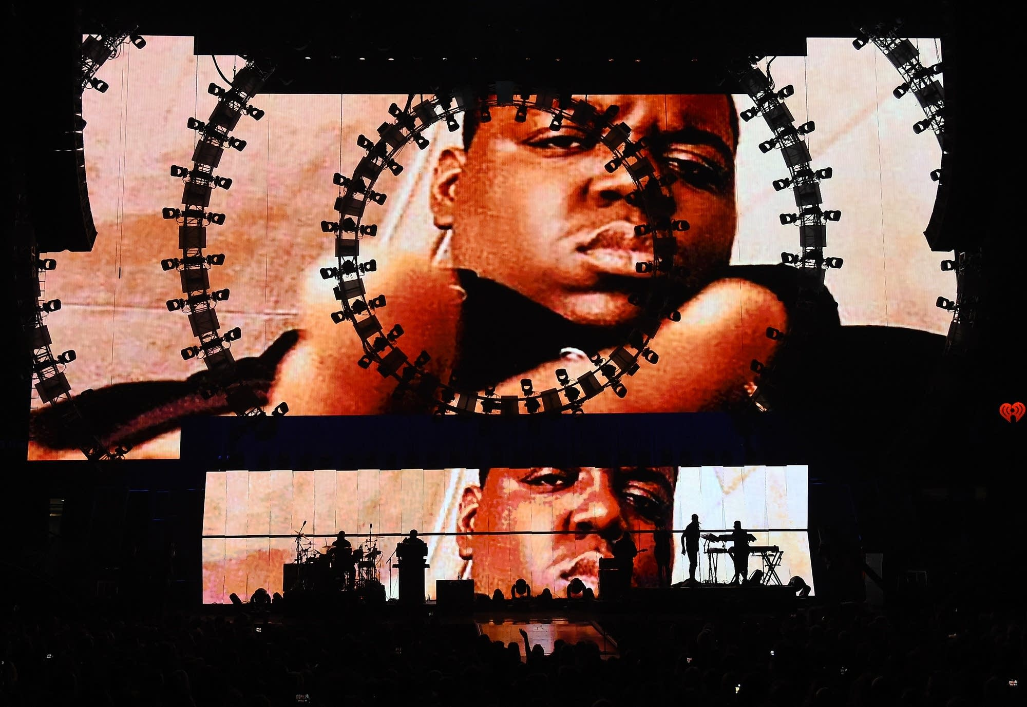 Images of Notorious B.I.G. during the 2015 iHeartRadio Music Festival