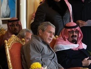 President Bush and the king of Saudi Arabia in 2008