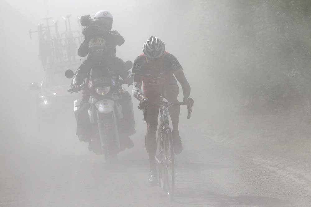Riding in a cloud of dust
