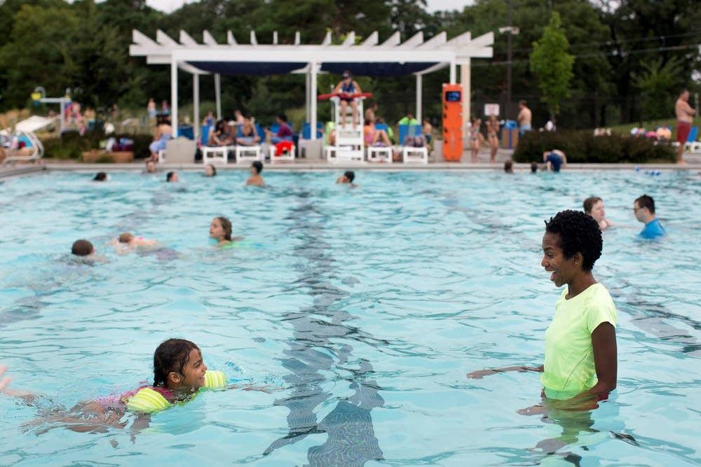 Swimming at Como Pool in St. Paul
