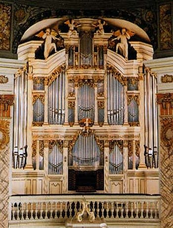 1755 Trost organ at the Stadtkirche [Town Church] in Waltershausen, Germany