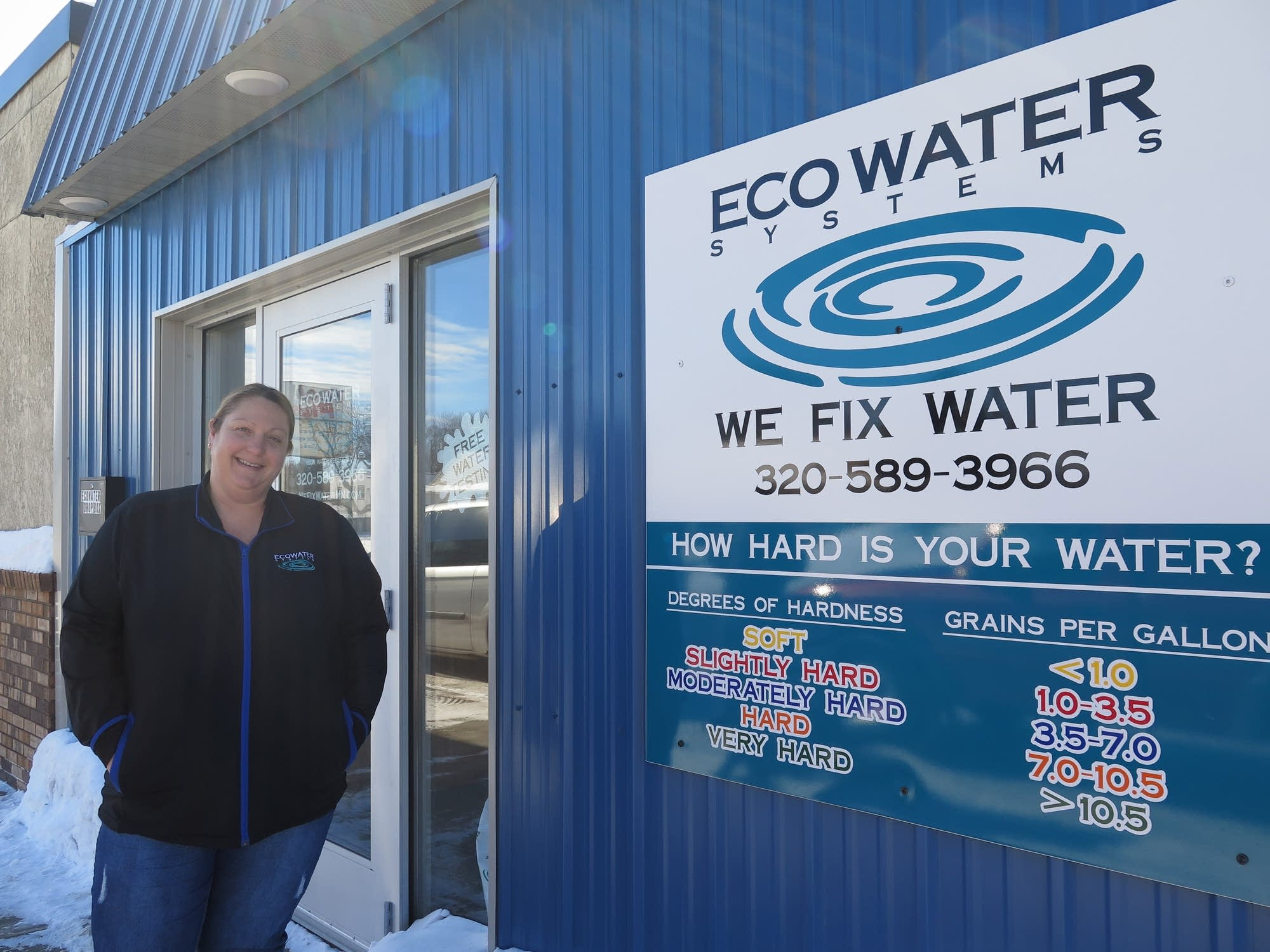 Holly Guggisberg is co-owner of EcoWater Systems.