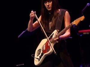 Noveller performs in the Liquid Music series