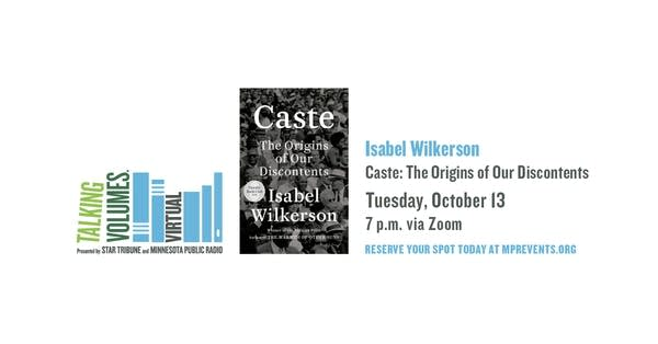 Talking Volumes announcement Isabel Wilkerson