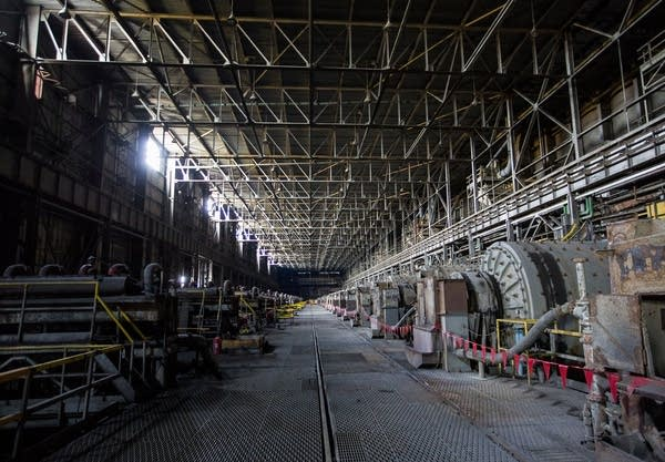 Inside the concentrator building