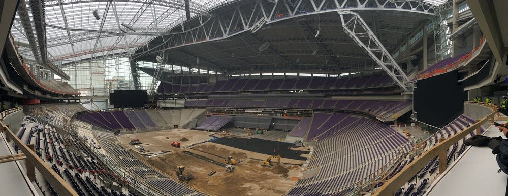 The Vikings stadium project is 90 percent complete