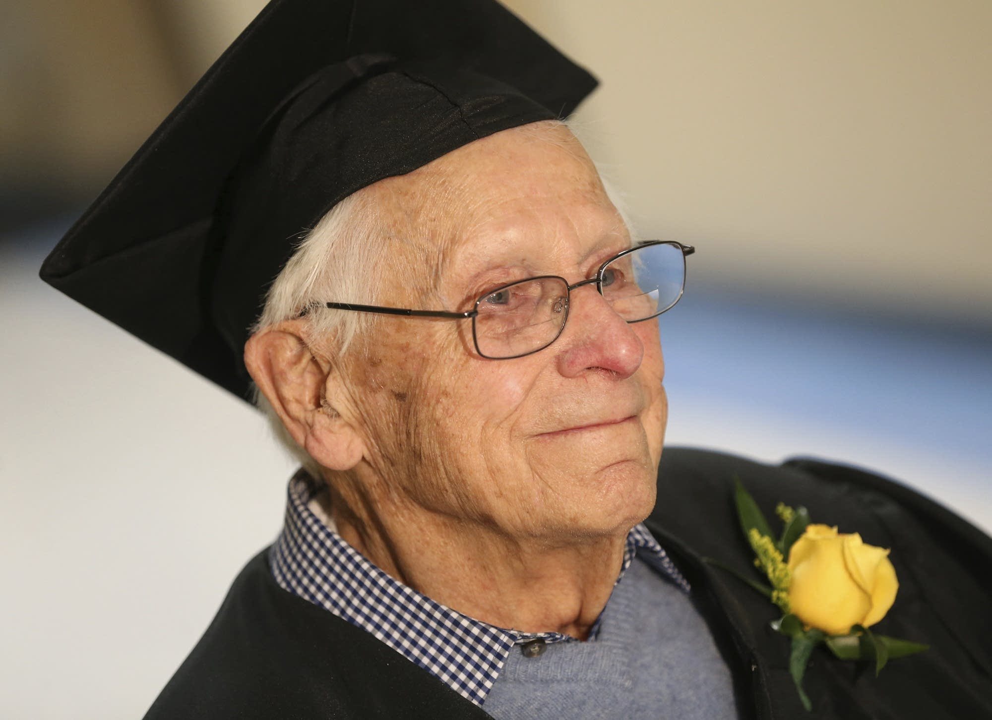 Leon Swendsen received his diploma at age 102.