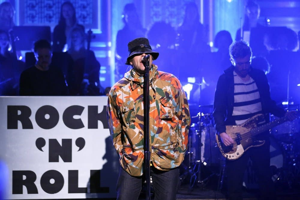Liam Gallagher performs on 'The Tonight Show Starring Jimmy Fallon'