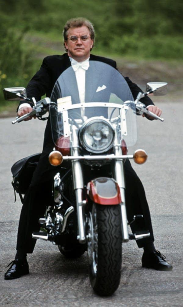 Vanska and his motorcycle