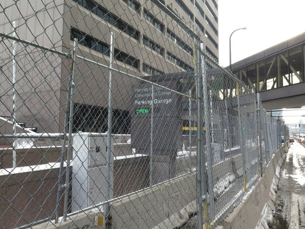 Fencing, barricades around the Hennepin County Government Center