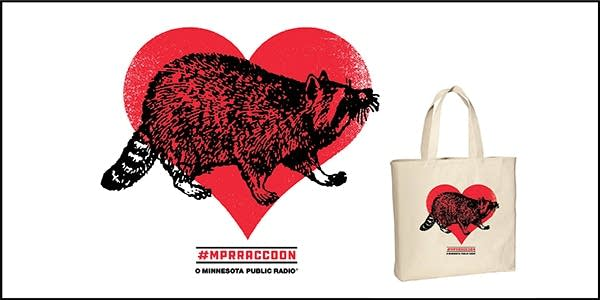Hashtag MPRRaccoon MPR Membership Tote