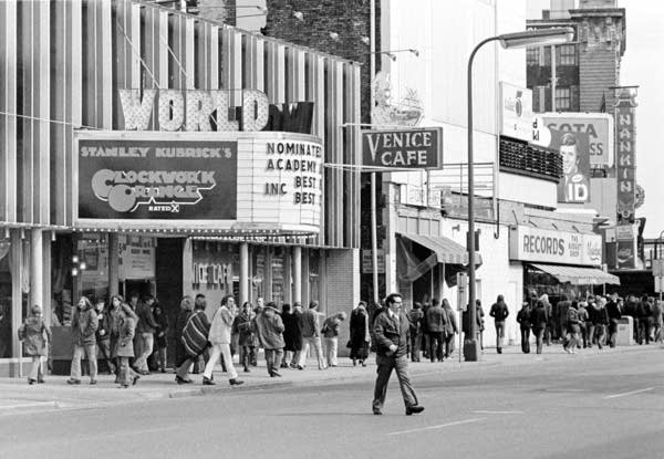 World Theater on 7th Street, March 1972