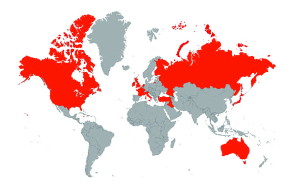 Map of critically acclaimed authors