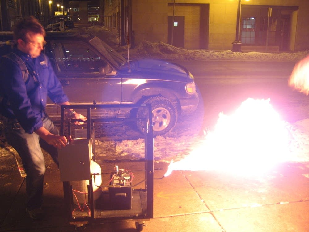 The gas grill flamethrower