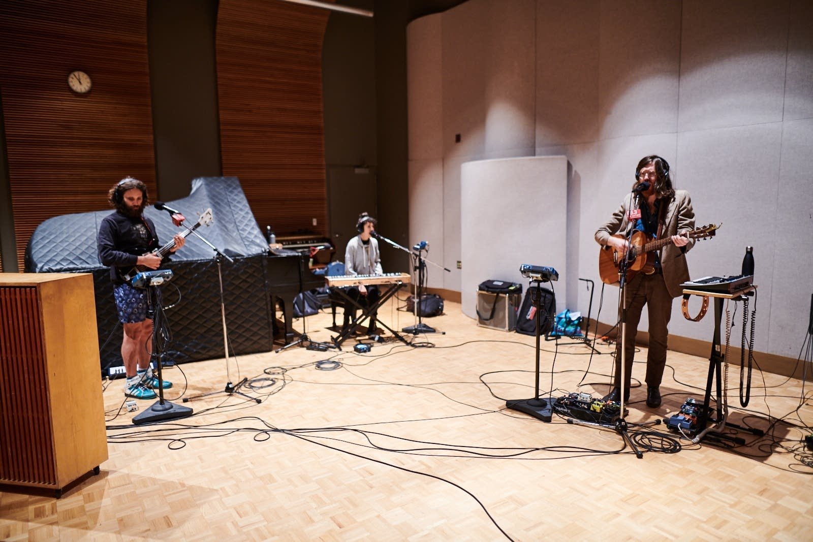 Okkervil River perform in The Current studio