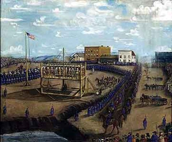 Execution of Dakota Indians, Mankato, Minnesota