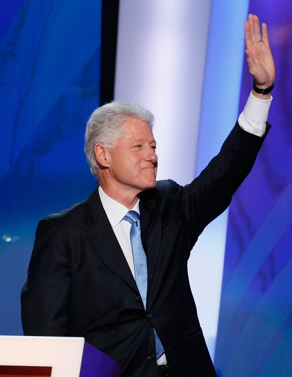 Former U.S. President Bill Clinton at the DNC