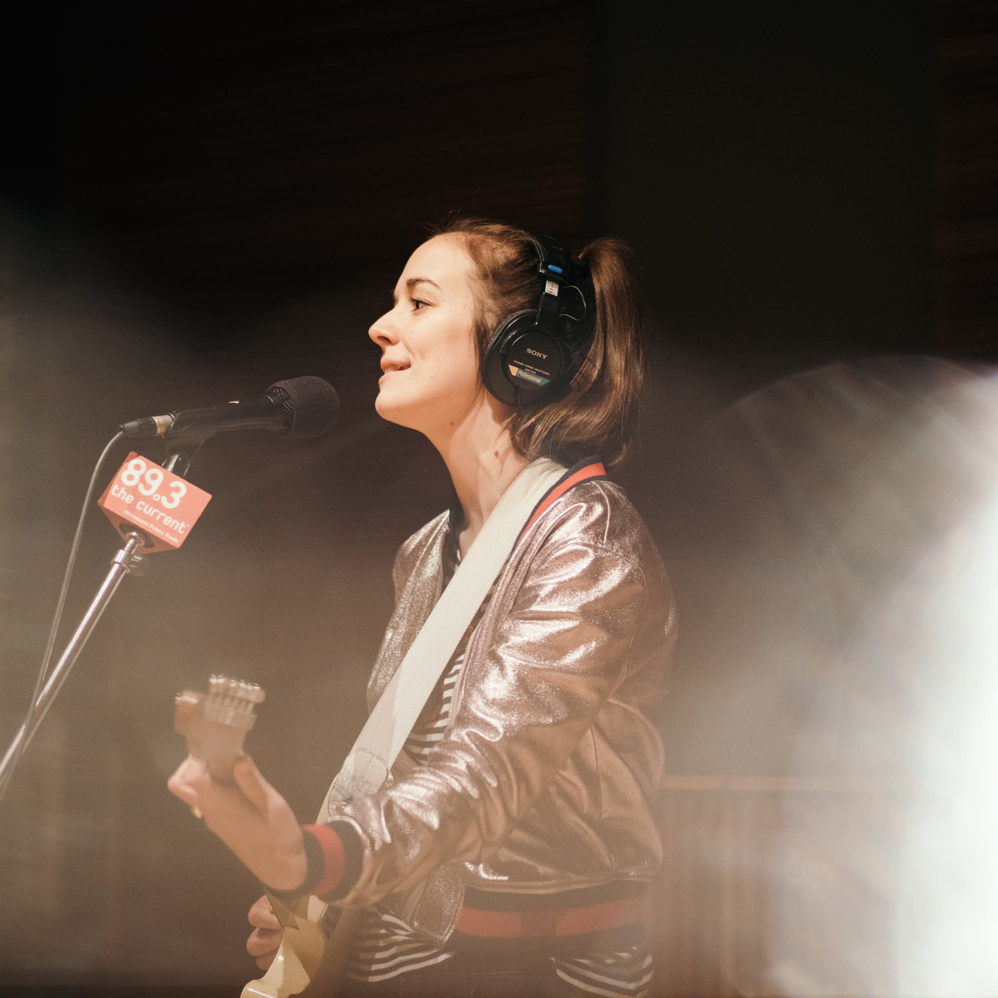 Margaret Glaspy performs in the studio