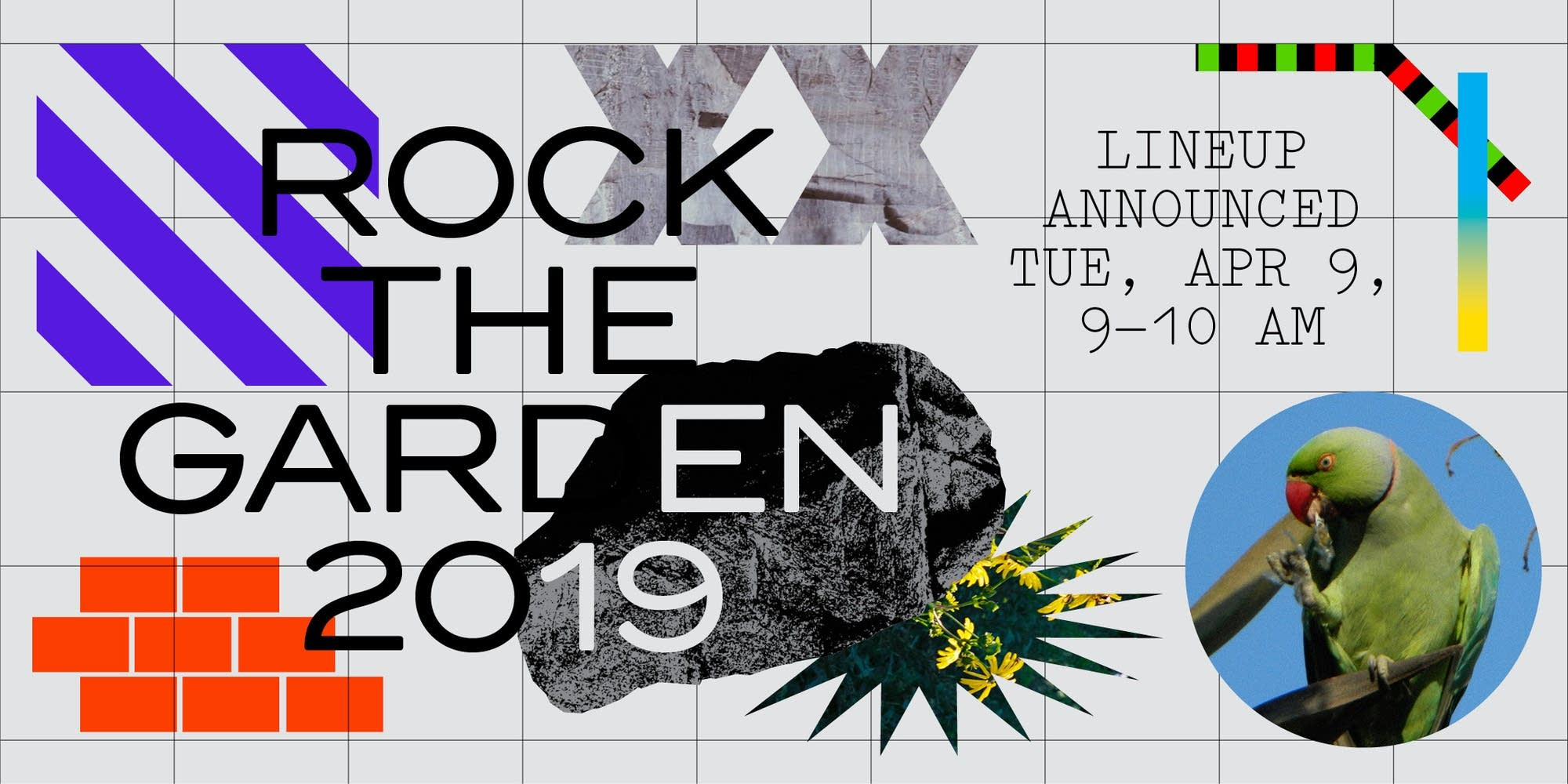 Rock The Garden 2019 pre-announce graphic