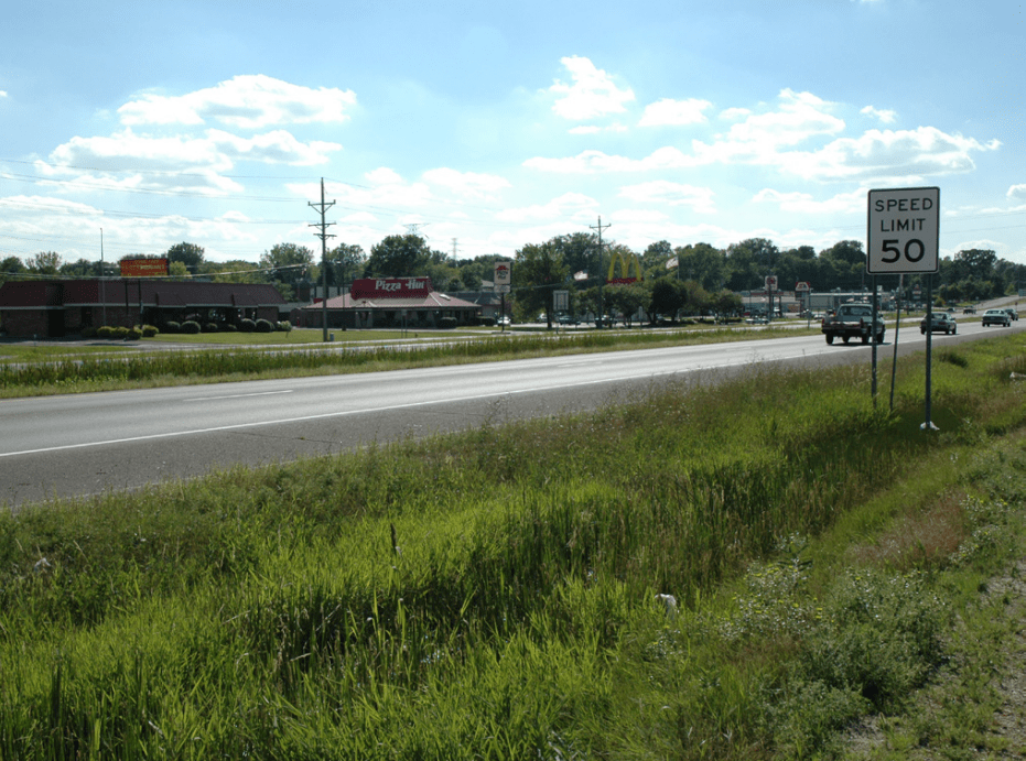 View of existing TH 36.