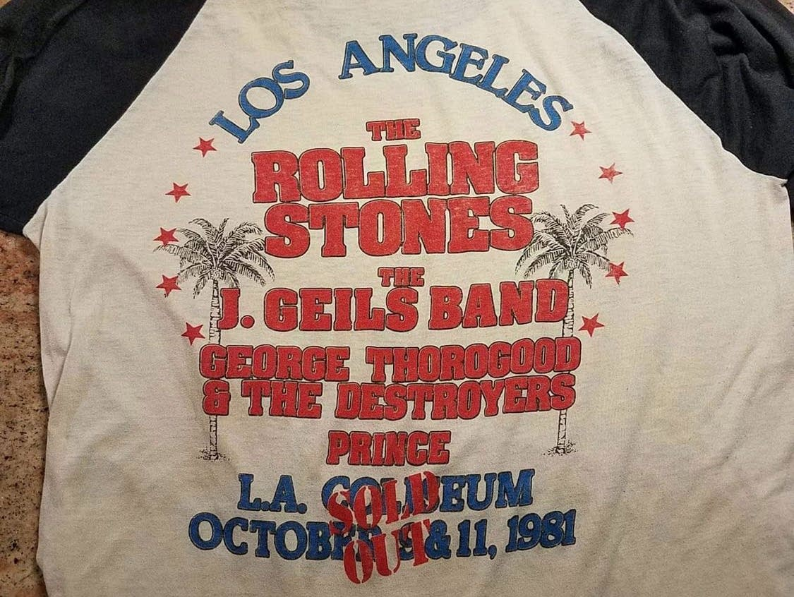 T-shirt from the Stones' 1981 Los Angeles dates featuring Prince