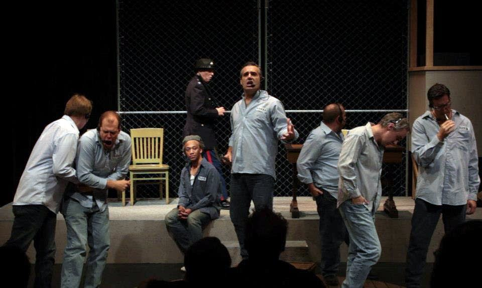 The ensemble in a musical Shawshank Redemption.