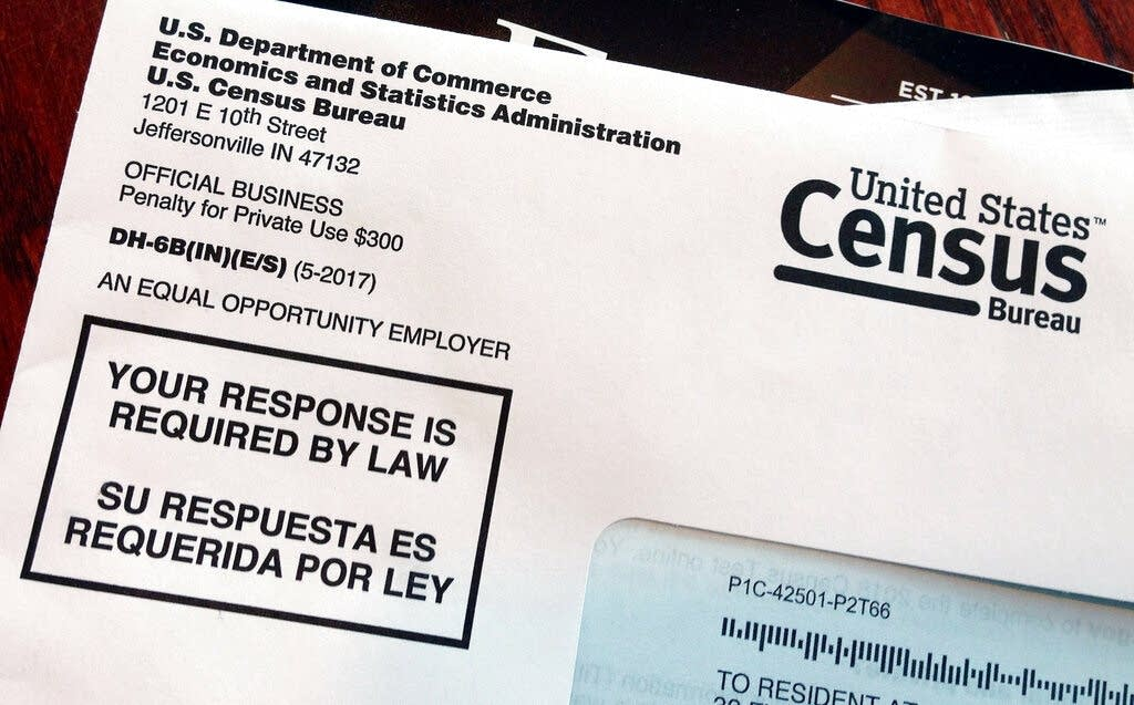 An envelope containing a 2018 census letter