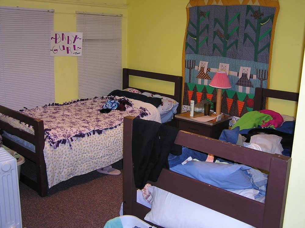 A view of the girls' room at The Bridge for Youth