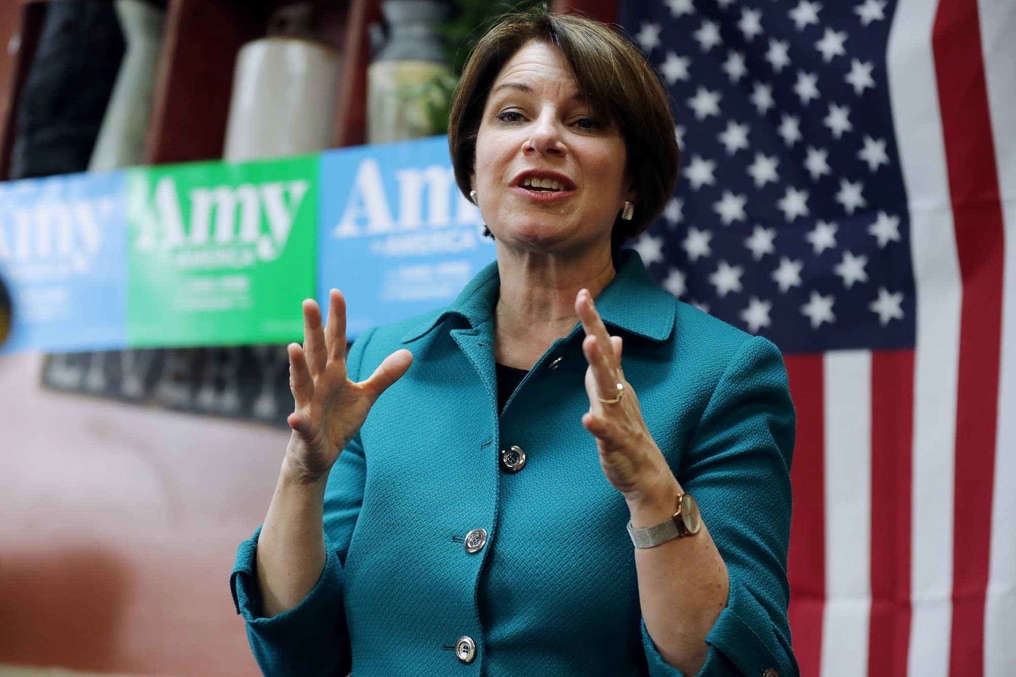 Presidential candidate U.S. Sen. Amy Klobuchar campaigns in Iowa.