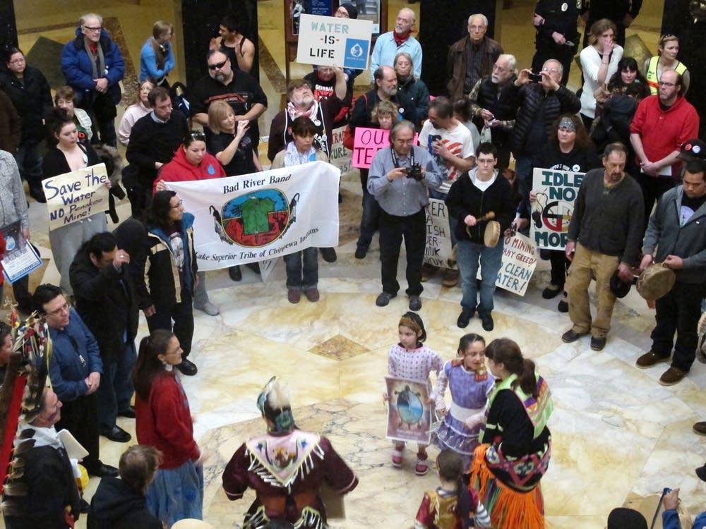Mining bill protest